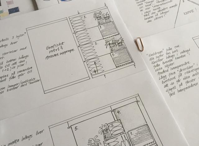 Skisser & instruktioner