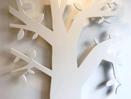 Framtagning av utfräst logga till vägg
